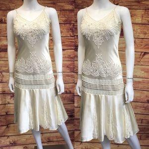 Vintage Sue Wong Beaded Flapper Silk Dress